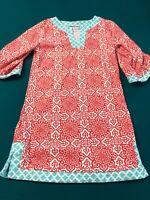 Girls Cabana Life Blue Print Swim Cover Up Tunic Dress Size 6
