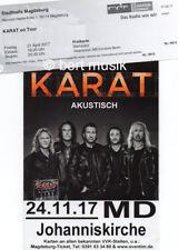 KARAT Flyer und altes Konzertticket - ROCKLEGENDEN - PUHDYS - Rock Legenden