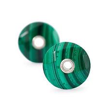 AUTHENTIC TROLLBEADS TSTEA-10001 Malachite Earrings