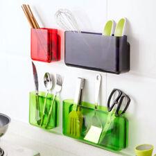 Wall-Mount Bathroom Cosmetics Storage Box Kitchen Remote Control Finishing Racks