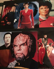 Lot of Six Unsigned Star Trek 8x10 Color Photos
