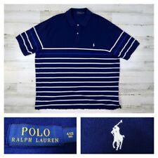 Polo Ralph Lauren 4XB Blue Striped Short Sleeve Polo Shirt Men's Size 4XL Big