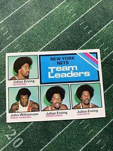 Clean - 1975-76 TOPPS #282 NEW YORK NETS ABA TEAM LEADERS DR J JULIUS ERVING++