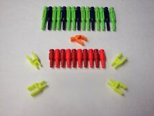 MICRO KNEX Transition Rods And Connectors Red Neon Green Purple Parts/Pieces Lot