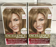 X2 NEW Loreal Paris Excellence Creme #8 MEDIUM BLONDE  Permanent Hair Color