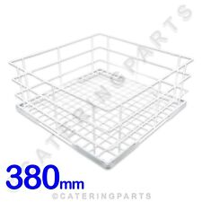 PLASTIC COATED WHITE WIRE OPEN 380x380x160mm GLASS CUP RACK UTENSIL GLASSWASHER