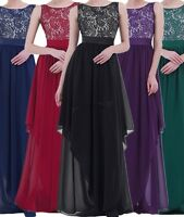 Women Evening Formal Party Cocktail Bridesmaid Prom Ball Gown lace Long Dress