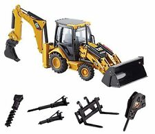 Norscot 55149 Caterpillar Cat 432E Side Shift Backhoe with work tools 1:50 Scale