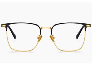 Huge Oversized Glasses for Men Wide Fat Face Prescription Eyeglass Metal Frame
