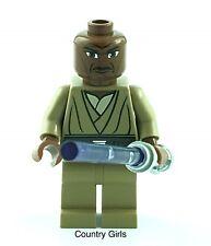 Star Wars Lego Mini-Fig Jedi Mace Windu 2009 Lightsaber 7868 8019 Minifigure AZ