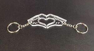 Personalised Hand Shaped Heart Keyring, Partner, Valentines, Boyfriend