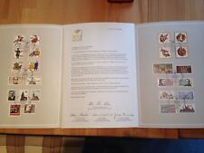 Briefmarken der Deutschen Bundespost in Klappkarte anlässlich 500 Jahre Post