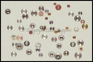 Assorted Watch Balance Jewels Shockproof Blocs Parts Spares Repair Jewel Kif etc