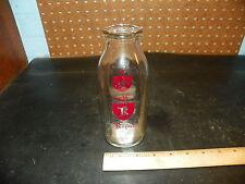 Vintage ROYAL Half Pint Glass Milk Bottle