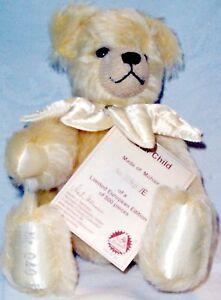 "Hermann Mohair Star Child Bear New Limited Edition #40/500 10"" tall"