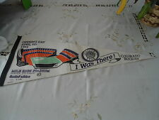 "Colorado Rockies 1993 Inaugural Year Pennant Mile High Stadium 30x12"" #7812"