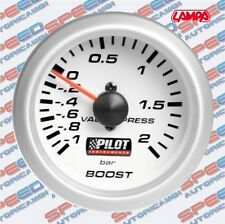 MANOMETRO PRESSIONE TURBO BLUE LIGHT D.2 - 52 MM COD 10001 BAR BOOST LAMPA PILOT