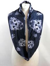 Gris avec des motifs Écharpes et châles Floral en mousseline pour femme