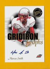21205 MARCUS SMITH 2008 PRESS PASS GRIDIRON GRAPHS NEW MEXICO LOBOS 🏈AUTOGRAPH
