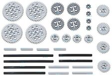 LEGO 34pc Technic gear & axle SET (Mindstorms nxt pack robot rcx lot crown) NEW