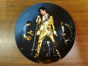 "1989 ""The Memphis Flash"" Elvis Presley Delphi Collector Plate 2932E"