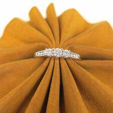 .44 ct tw DIAMONDS 14k White Gold Past, Present, Future Ladies Engagement Ring