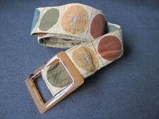 Vintage Julie Clinger designs Winnetka plastic buckle nice colors dots belt #2