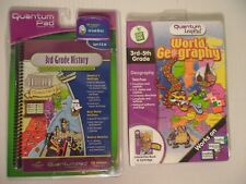 QUANTUM Leap Pad 2 Books Cartridges Grade 3 History, World Geography 3rd-5th
