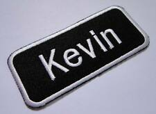 NAME TAG KEVIN EMBROIDERED IRON ON PATCH Free Shipping