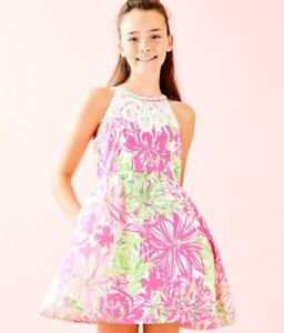 LILLY PULITZER Girls Little Kinley Fit and Flare Dress Koala Me Maybe NWT 10