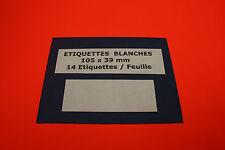 ETIQUETTES 9 Feuilles A4 = 126 Étiquettes Autocollantes Blanches 105 x 39 mm