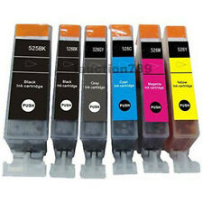 6x INK Cartridges PGI-525 BK CLI526 + Grey for CANON PIXMA MG6150 MG6250 PRINTER