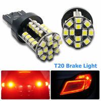 2xT20 7443 3528 W21/5W 44SMD LED bombilla luz freno lámparas coche Canbus Blanco