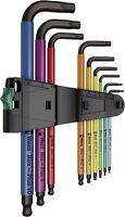 Wera Tool Allen L-Key Wrench Hex Multi Colour Long Arm Ball End Set 9 Pc Metric