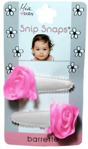 Mia Baby + Girl Snip Snaps, Jerey Material w/ Chiffon Rosettes Attached