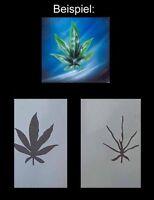 Airbrush Schablone Step by Step / Stencil / Weed / 311 Hanfblatt