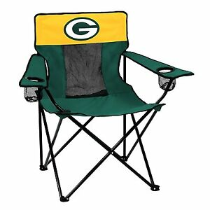 Green Bay Packers Logo Quad Chair - Portable w Cupholder -NFL Licensed- FREE S/H