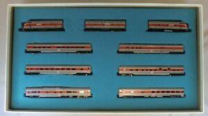 N Gauge Con-Cor Union Pacific E8 AB + 6-car Passenger + 1 Boxcar Boxed Set