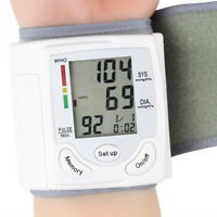 Digital LCD Wrist Blood Pressure Monitor Heart Beat Rate Pulse Meter Measure HT