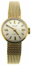Polished Solid Gold Strap Wristwatches with 12-Hour Dial