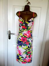 "FABULOUS FLORAL WIGGLE DRESS BY STYLEWISE UK-18 BUST 42"" HIPS 46""  LENGTH 43"""