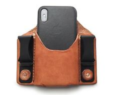Inside the Waistband Phone Case Belt Clip Holster Pouch by Double Rivet Leather
