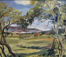 Nancy Parker original vintage oil painting Australian landscape art