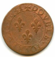Louis XIII (1610-1643) Double tournois 1631 E Tours