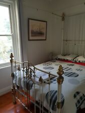 Antique brass bed-double with base