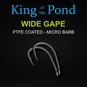 Curve shank carp hooks size 6, Qty - 10 very sharp & strong - carp fishing
