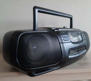 Panasonic RX-DT30 Portable Twin Cassette CD Player Radio Ghetto Blaster/Boombox