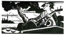 Japón kokyo juego hace fujiyama-Louis Callaud-original corte de madera 1926