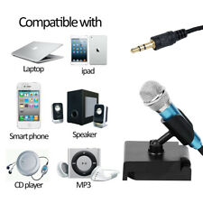 1X Mini Microphone for iPhone Mini Condenser Microphone with Holder Useful D5C