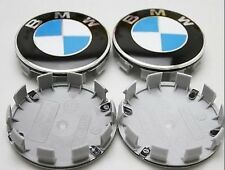x4 BMW Alloy Wheel Badges Center HUB Caps 68mm E34 E36 E39 E46 E60 F10 M3 M5 X5
